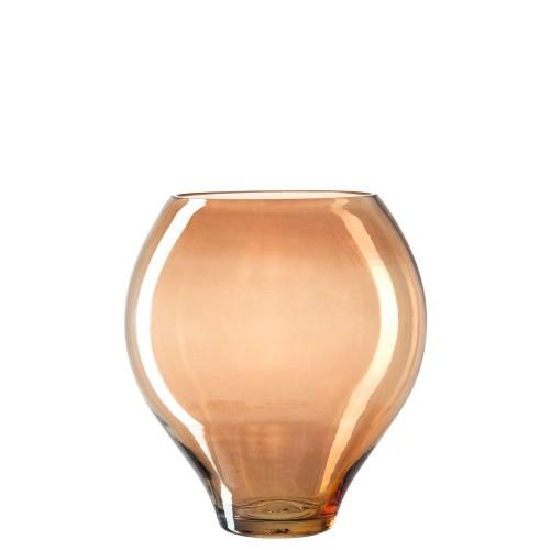 Vaza / svetilka jantarne barve 27 cm