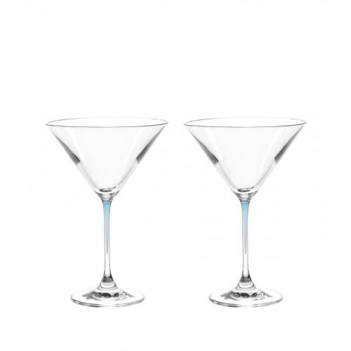 Kozarec za koktajl »LA PERLA« set/2 moder