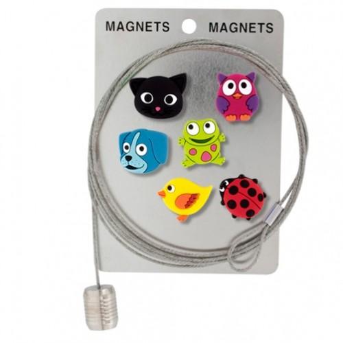 Magneti za fotografije, sporočila na žici »ANIMAL« v obliki živali