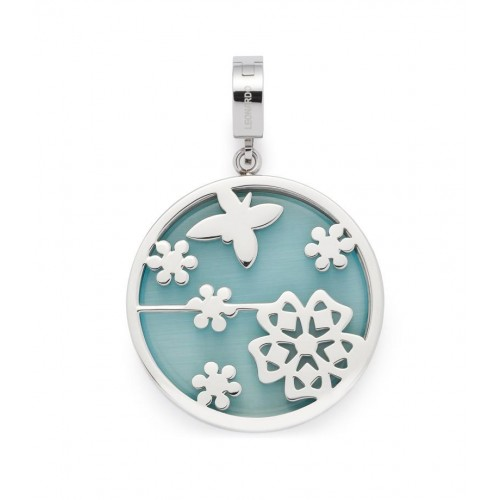 Obesek za ogrlico »NELLA« v sinje modri barvi