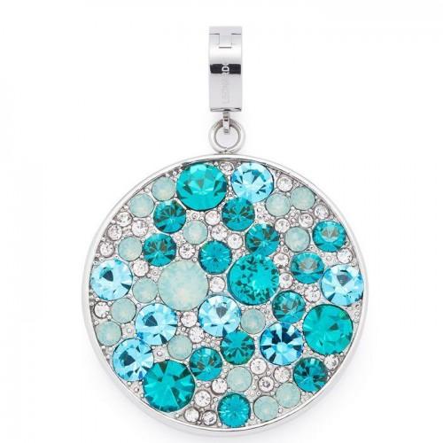 Obesek za ogrlico »OCEANO« v turkiznih odtenkih