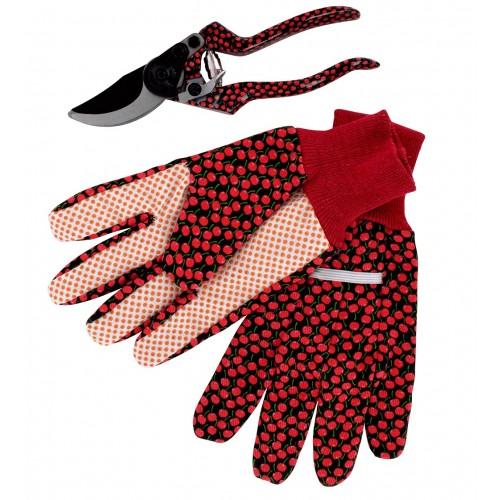 Vrtne škarje in rokavice »CHERRY« poslikane češnjice