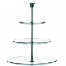 Servirni krožnik Dinner 3 nadstropni steklo