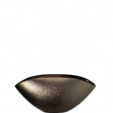 Skodela oval »COMO« bronza steklena
