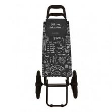 Nakupovalni voziček POLY »Black« 3 kolesa v črni barvi