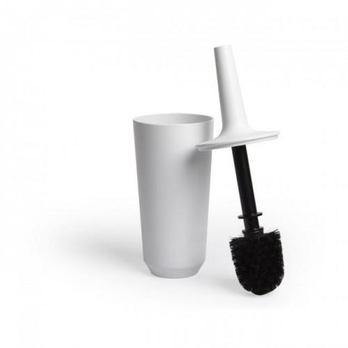 Krtača / ščetka za wc školjko »CORSA« v beli barvi