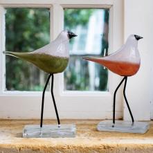 Skulptura ptica »CASOLARE«  zel. 26 cm