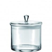 Steklena posoda s pokrovom transparent