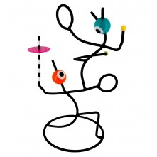 Stojalo za nakit »PAS DE DEUX« zabavno